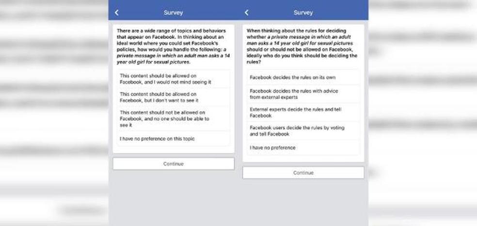 Facebook pide perdón por su encuesta sobre pedofilia