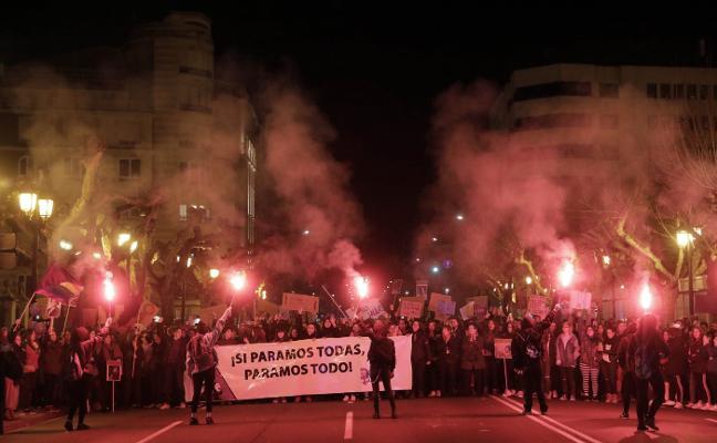 Miles de manifestantes llenaron el centro de Logroño