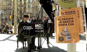 Los pianos invaden las calles de Barcelona