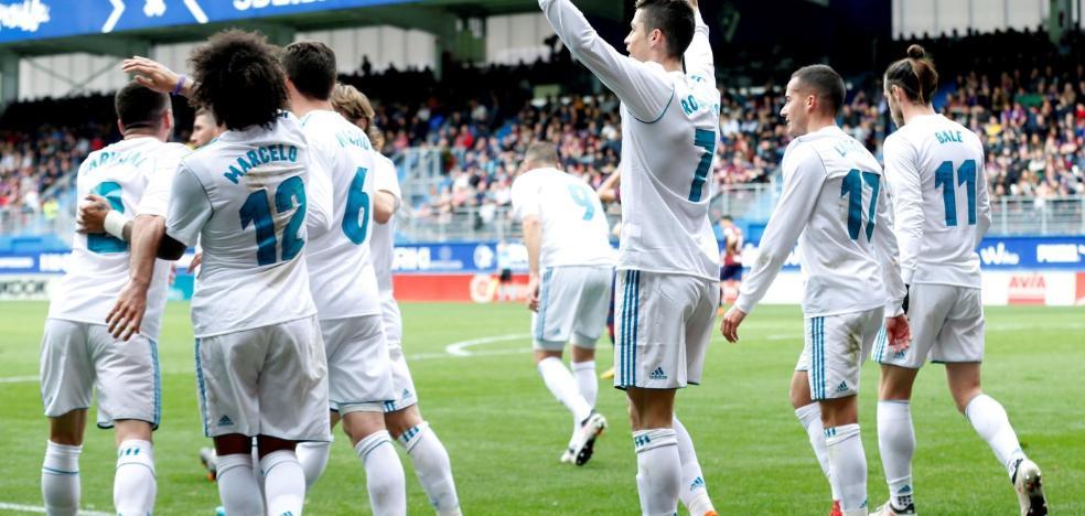Cristiano eleva el ritmo del Real Madrid
