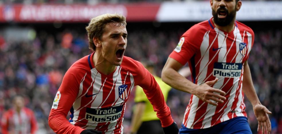 El Atlético de Madrid golea sin exprimirse