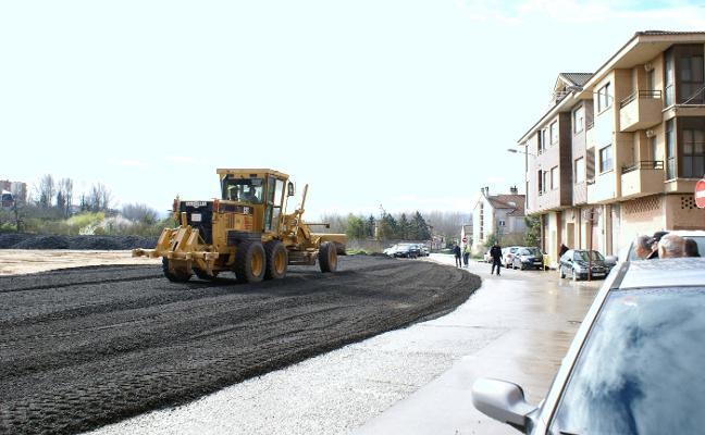 Las obras en la explanada de la calle Canalón de Nájera finalizarán mañana