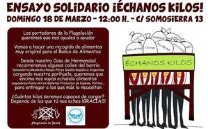 El 'ensayo solidario' de La Flagelación: «¡Échanos kilos!»