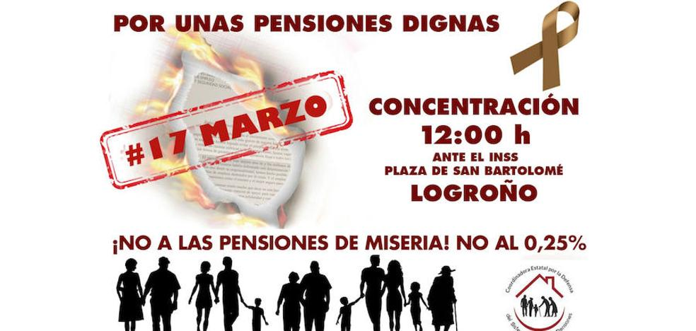 La Coordinadora en Defensa de las Pensiones pide que se fijen 1.080 euros como mínimo