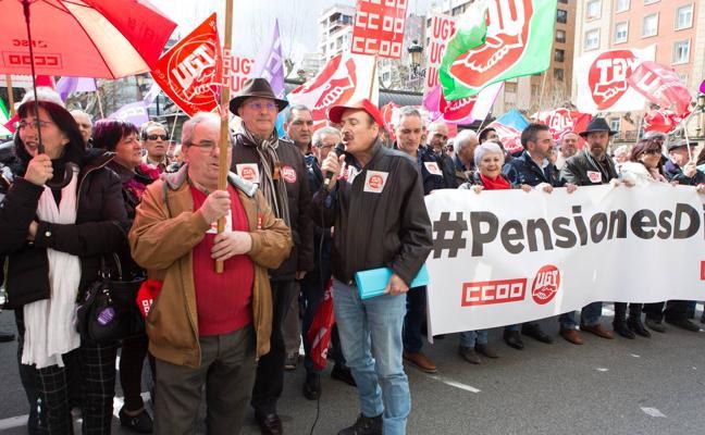 Hoy, manifestación en defensa de las pensiones en Logroño