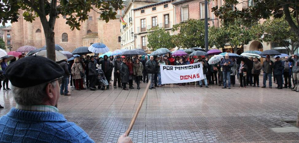 Concentraciones contra las «pensiones de miseria» en La Rioja