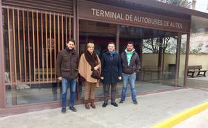 La nueva terminal de autobuses de Autol «dará respuesta al actual flujo de pasajeros»