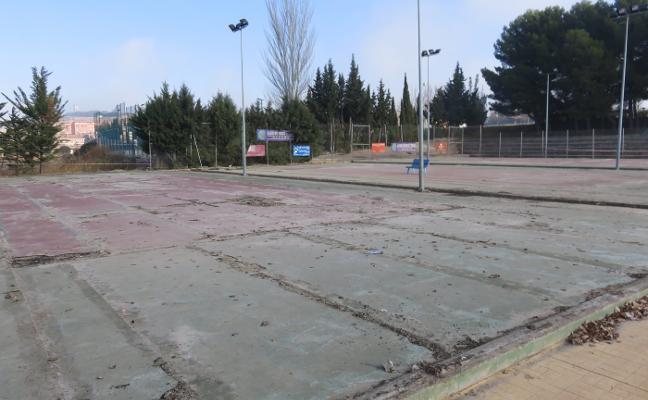 La reforma de las pistas de tenis, tras Semana Santa
