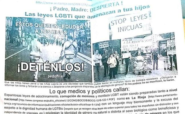 El PSOE lleva a la Fiscalía los folletos homófobos repartidos junto a un colegio de Calahorra