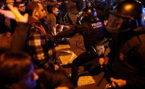 24 heridos leves en las protestas de Barcelona