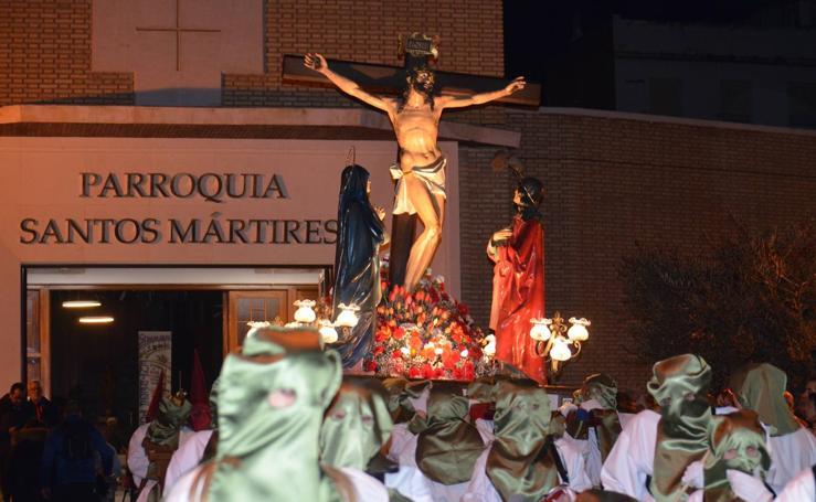 Procesión del Cristo de la agonía en Calahorra