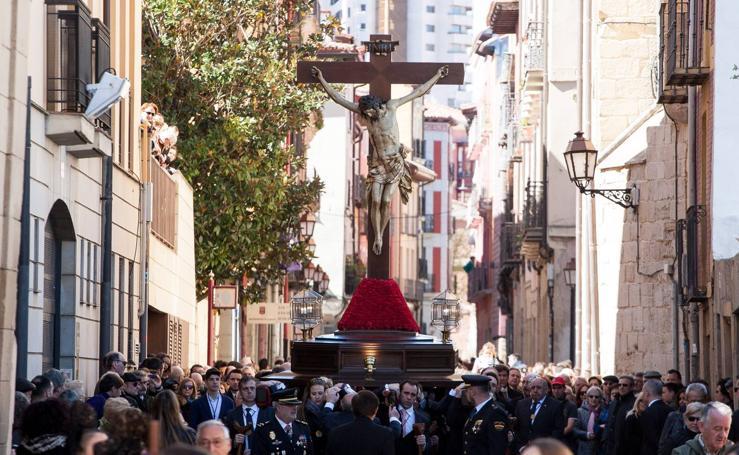 Semana Santa de Logroño 2018: Traslado procesional del Santo Cristo de las Ánimas