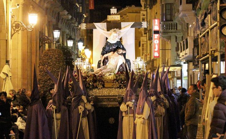 Semana Santa de Logroño 2018: Procesión del Santo Entierro en Viernes Santo