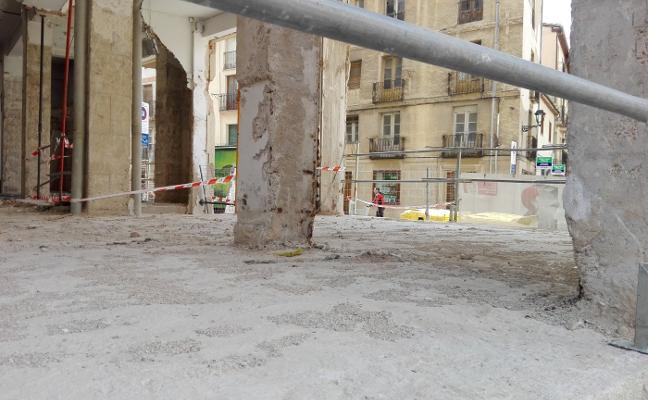 Las obras del antiguo mercado se reanudan tras casi dos meses paradas