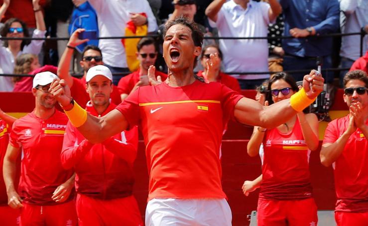 Copa Davis: Nadal-Zverev, en imágenes