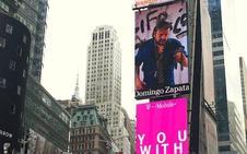 Un artista español se apodera de las pantallas de Times Square