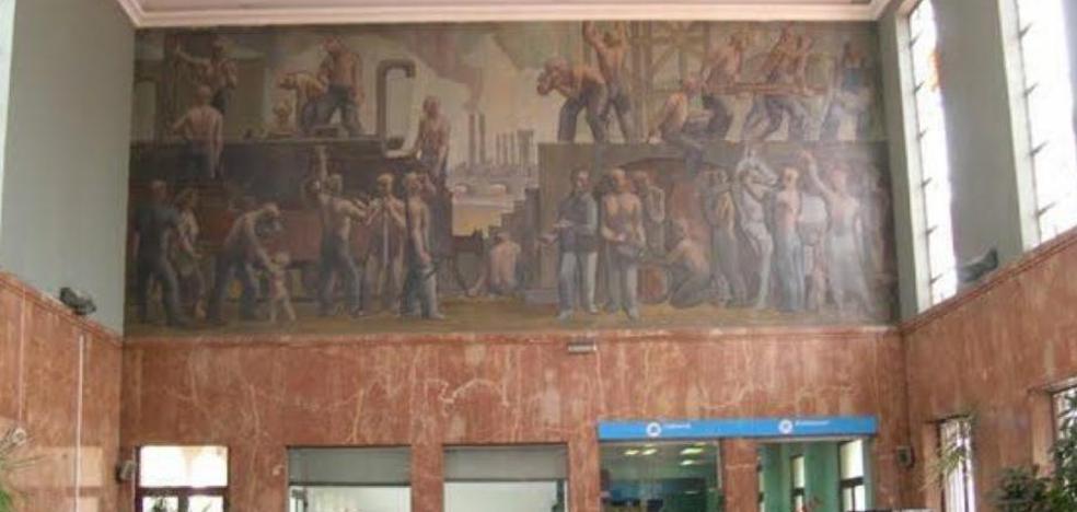 Los murales de la antigua estación no encuentran sitio