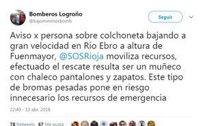 Una broma pesada en el Ebro obliga a activar el dispositivo de salvamento