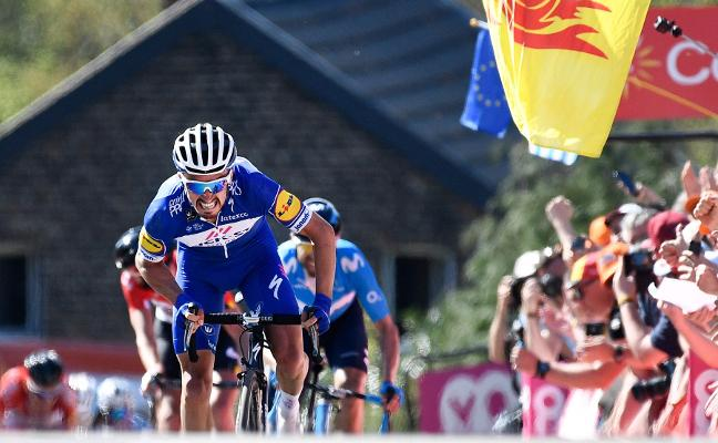 Alaphilippe priva del triunfo a Valverde