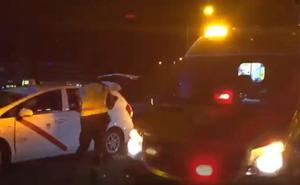 Muere un hombre de 31 años tras ser atropellado por un taxi en la M-40, en Madrid
