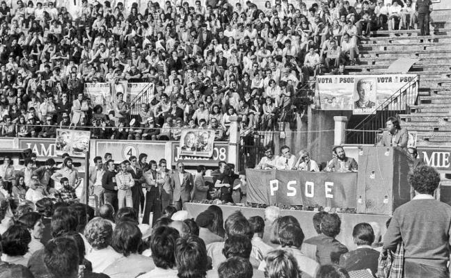La Retina: mitin de Felipe González en Logroño