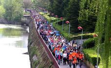 1.400 personas han participado en el tercer Paseo Saludable con destino el Monte Cantabria