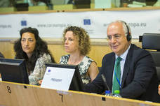 Ceniceros encabeza en Bruselas la reunión de la comisión social del CdR