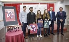 Un alumno de diseño gana concurso de etiquetas de vino del Día del Libro
