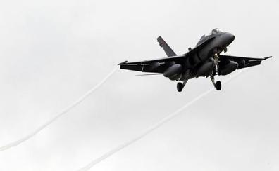 Un F-18 sobrevolará Logroño este miércoles como ensayo para el desfile de las Fuerzas Armadas