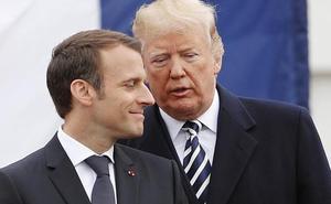 Trump recibe a Macron y califica de «desastre» el acuerdo nuclear con Irán
