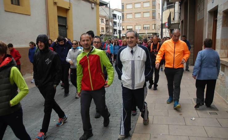 La lluvia obliga a suspender la marcha 'Entre sotos' de Rincón de Soto
