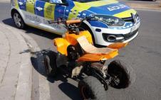 Denuncian a un niño de 7 años que conducía un quad por las calles de Sevilla