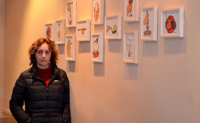 Muestra de ilustraciones de verduras, en La Comedia