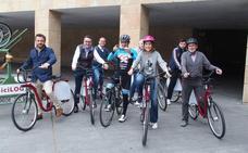 Coloma y Gamarra, en bici por Logroño