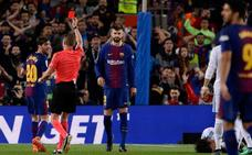 Cuatro partidos de sanción a Sergi Roberto por su roja en el clásico