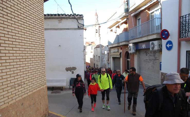 Marcha senderista en Pradejón