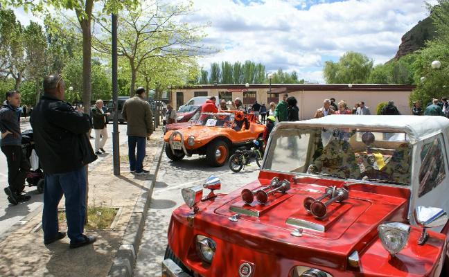 Concentración de coches clásicos en Nájera