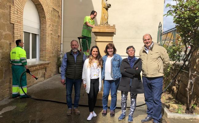 Mejoras en la escultura del colegio San Felices
