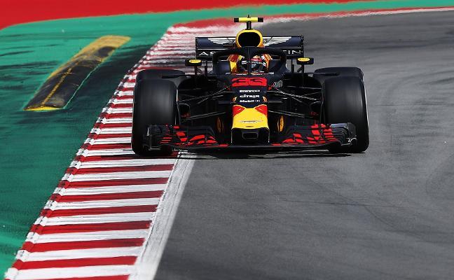 Verstappen fue el más rápido ayer en Montmeló