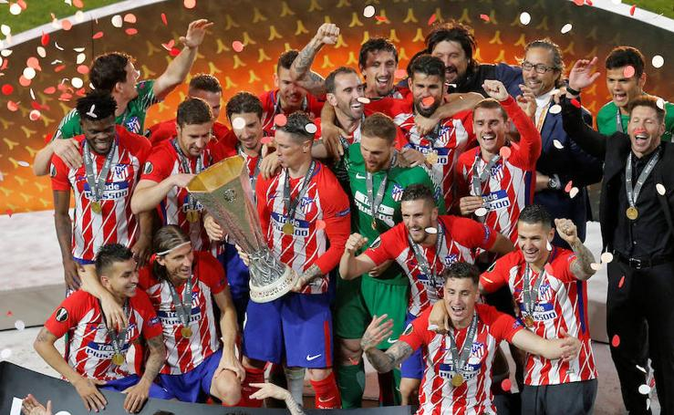 Las mejores imágenes del Olympique de Marsella-Atlético