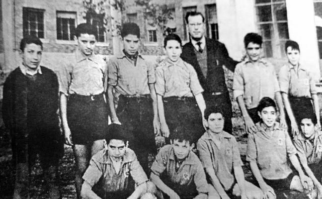 Futbolistas logroñeses hacia 1957