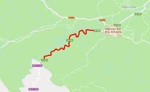 Corte total por obras en la LR-284 en el tramo que une Aguilar con la provincia de Soria