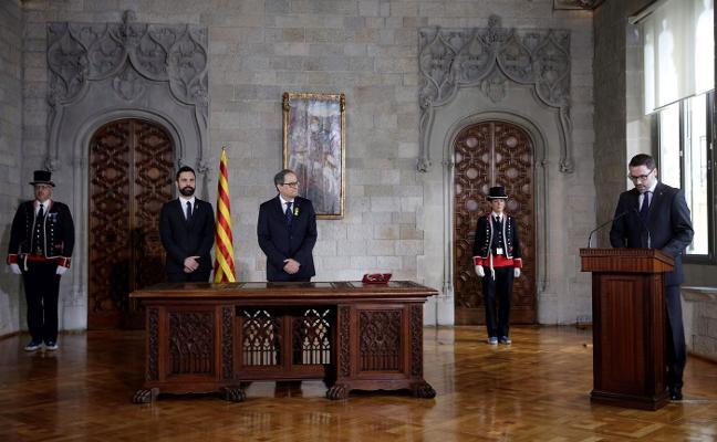 Torra ya ejerce en Cataluña y anticipa que ahondará la vía desafiante de Puigdemont