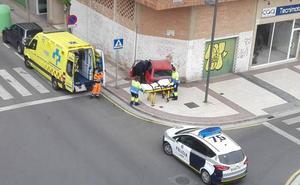 Un herido tras empotrar su coche contra un edificio en la calle Viveros