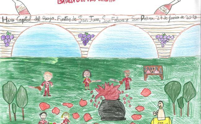 Daniela Otero gana el concurso infantil del cartel de la batalla del vino