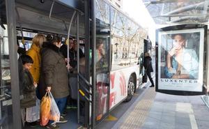 Así funcionarán los autobuses urbanos y metropolitanos el Día de las Fuerzas Armadas en Logroño