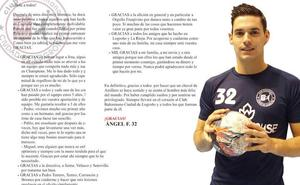 Emotiva carta de despedida de Ángel Fernández