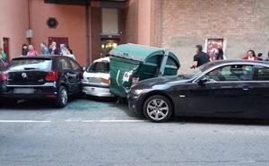 Dos heridos en un choque en cadena en Logroño