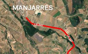 Un accidente corta la LR-340 en Manjarrés