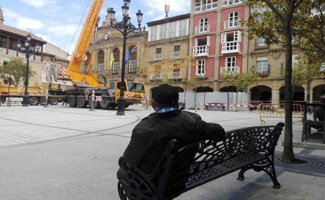 La plaza de la Paz recupera su aspecto